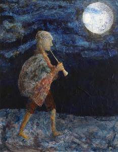 Pistec, Vladimir Svozil, akryl na platne