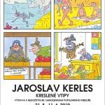 Plakát k výstavě Jaroslava Kerlese v Galerii Hrozen